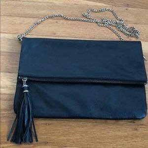 Black H&M fold over crossbody